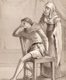 Prudence Seeking to Comfort Melibeus