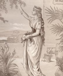 Emelye, the Queen's Sister, in the Palace Garden