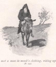 Sir Bors met a man in monk's clothing, riding upon an ass