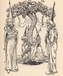 The garden is watched by eight magicians