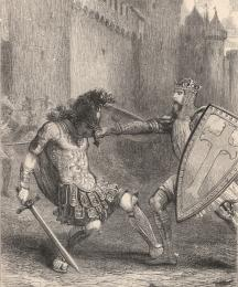 King Arthur Slays Flollo, the Roman Governor