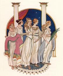 Five maidens came bringing gifts