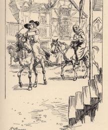 A Good-wife from Bath, on an ambling nag.