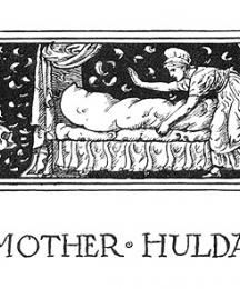 The headpiece of Mother Hulda.