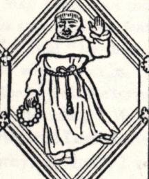 Friar, excerpt of the Betley Window
