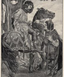 Little John caught the horse by the bridle