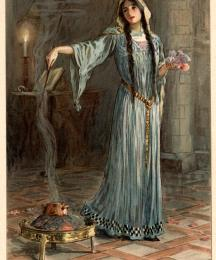 She was known to have studied magic while she was being brought up in the nunnery
