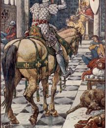 Perceval Obtains the Shield of the Beating Heart