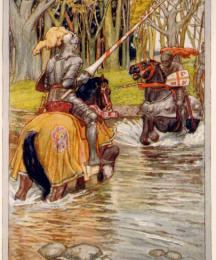One of the Two Knights Rushed to Encounter Him