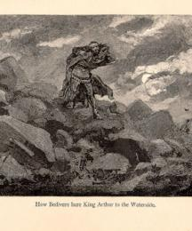 How Bedivere Bare King Arthur to the Waterside