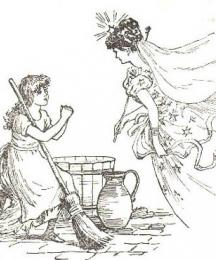 Her godmother, who was a Fairy, came to her....