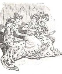 Cinderella offered her sisters sweet meats....
