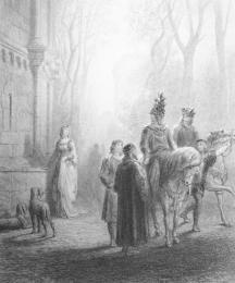 Lancelot Bids Adieu to Elaine