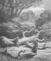 Vivien Encloses Merlin in the Tree