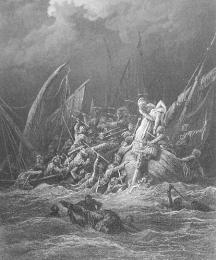 The Sea Battle for a Beautiful Woman