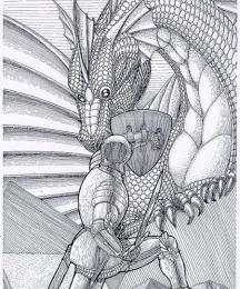 Sir Lancelot and the Dragon from the Tomb
