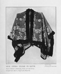 Silk Opera Cloak in Batik.