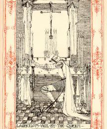 Launcelot's Vigil by the Queen