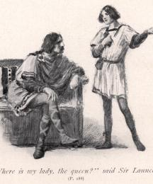 Where is my lady, the queen? said Sir Launcelot