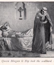 Queen Morgan le Fay took the scabbard