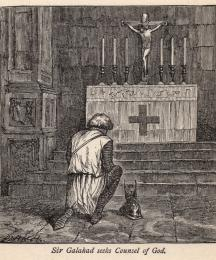 Sir Galahad Seeks Counsel of God