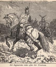 Sir Segwarides Rides After Sir Tristram