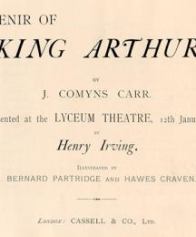 Title Page of J. Comyns Carr's King Arthur