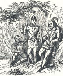 Robin Hood, Little John, Scathelock, and Much the Miller's Son