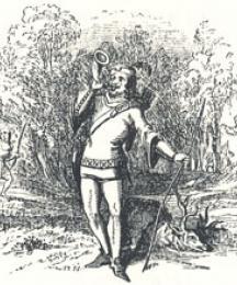 Robin Hood Blowing His Horn