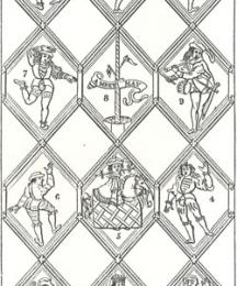 Morris Dance, from Mr. Tollett's Painted Window