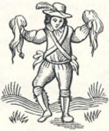 Morris Dancer with Handkerchiefs Instead of Bells