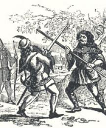 Encounter Between Robin and the Pinder, Headpiece to The Jolly Pinder of Wakefield