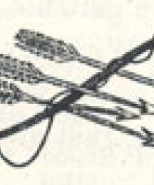 Bow and Arrows, Tailpiece to Robin Hood and the Bishop