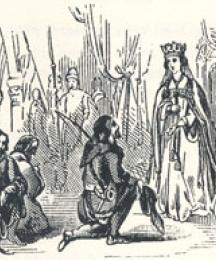 Robin and his Companions Making Obeisance to the Queen, Robin Hood and Queen Katherine