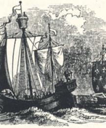 Ancient Shipping, Headpiece to The Noble Fisher-man; or, Robin Hood's Preferment