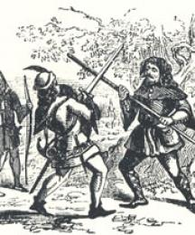 Robin Hood and the Beggar Fighting, Headpiece to Robin Hood and the Beggar