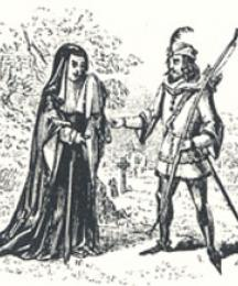 The Widow Importuning Robin Hood, Headpiece to Robin Hood Rescuing the Widow's Three Sons from the Sheriff, When Going to be Executed