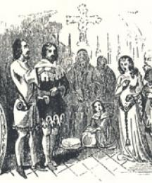 The Marriage Ceremony Interrupted, Headpiece to Robin Hood and Allin a Dale