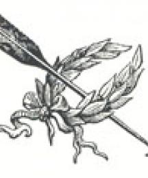 Arrow and Laurel, Tailpiece to Robin Hood and the Golden Arrow