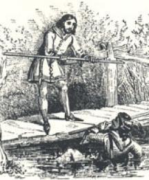 The Bridge Scene, Headpiece to Robin Hood and Little John