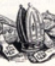 Bishop's Symbols of Office, Tailpiece to Le Mort de Robin Hood