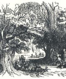 Woodland Scenery, Headpiece to The Song of Robin Hood and His Huntes-Men