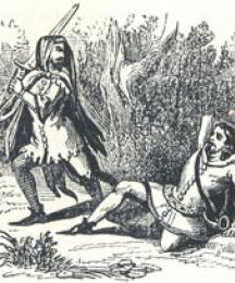 Encounter between Guy and Robin, Headpiece to Robin Hood and Guy of Gisborne