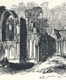 Ruins of Saint Mary's Abbey, York, Headpiece to A True Tale of Robin Hood by Martin Parker