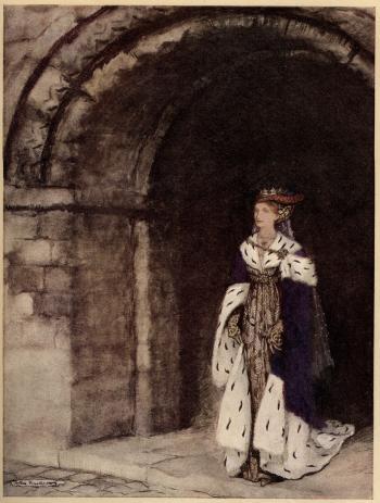 How Dame Lionesse came forth arrayed like a princess.