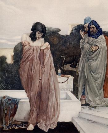 """""""Certes, for fals witnessing was Susanna..."""""""