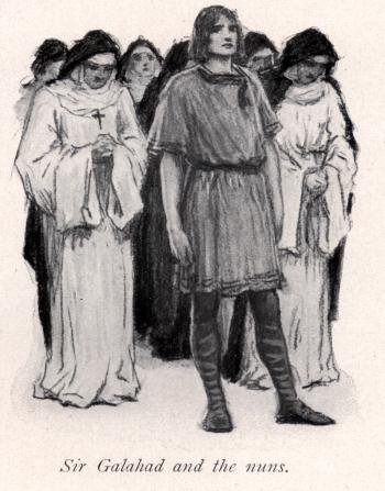 Sir Galahad and the nuns