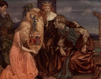 """Madam,"" said Sir Tristram, ""this is a fair shield and a mighty"""