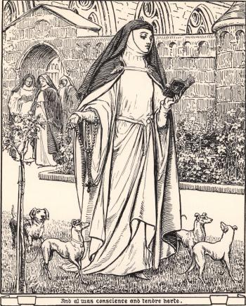"""And al was conscience and tendre herte."""