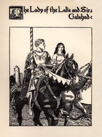 The Lady of the Lake and Sir Galahad